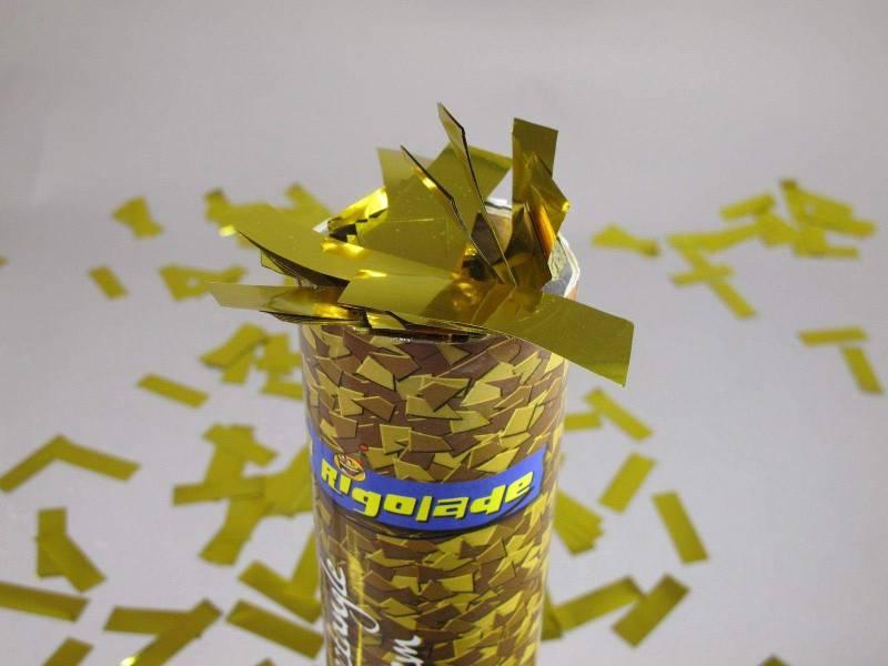 Grand Canon à confettis - Rectangle Or