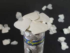 Grand Canon à confettis - Coeur Blanc