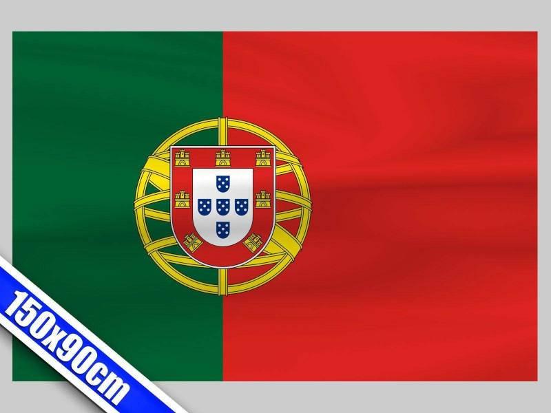 Grand drapeau de Supporter du Portugal de 1,5m
