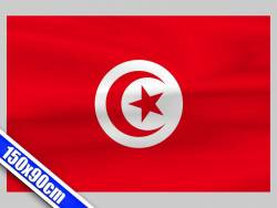 Grand drapeau de Supporter de Tunisie de 1,5m