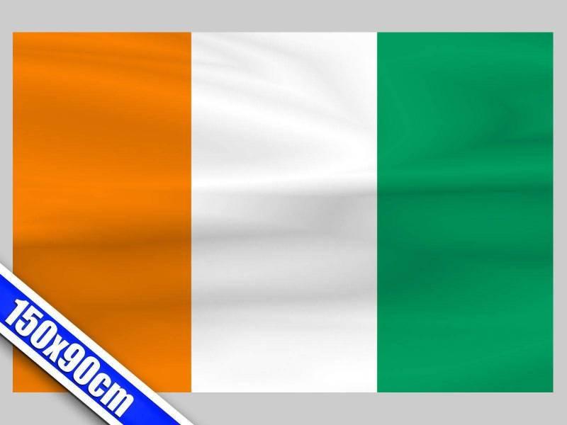 Grand drapeau de Supporter de Côte D'Ivoire de 1,5m
