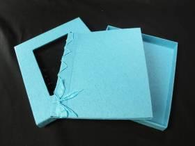 Livre d'or en papier mâché - Turquoise