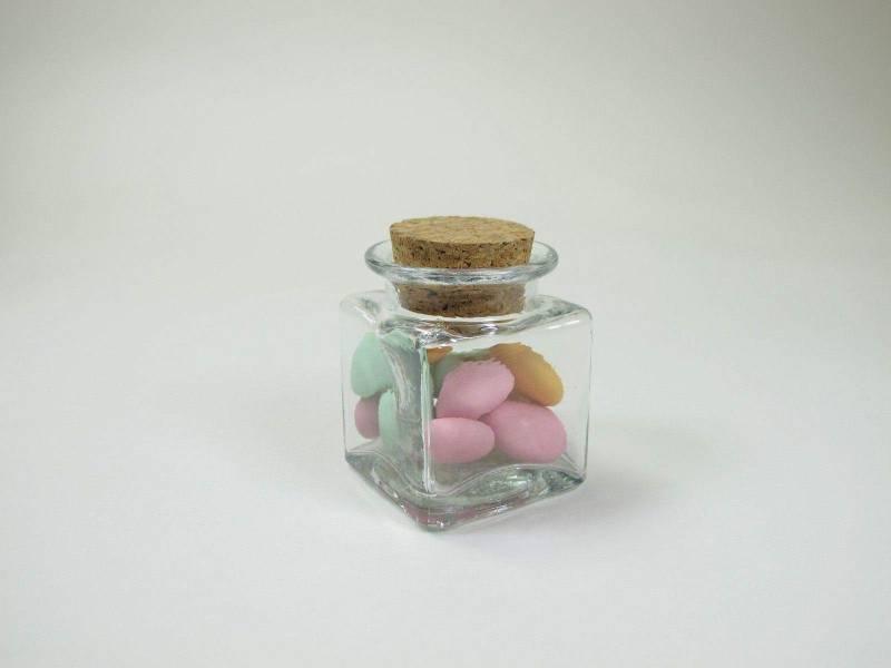 Pot carré - Transparent