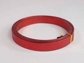 Fil Aluminium décoratif pour bijoux plat 15mm - Rouge