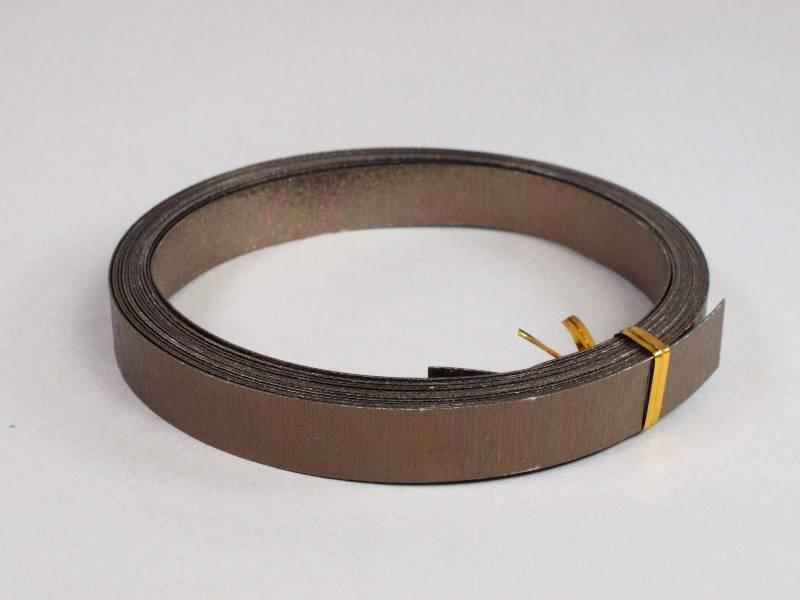 Fil Aluminium décoratif pour bijoux plat 15mm - Chocolat