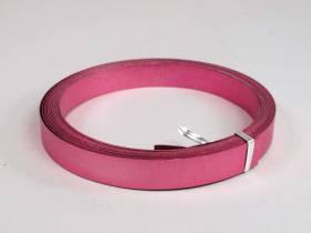Fil Aluminium décoratif pour bijoux plat 15mm - Fuchsia