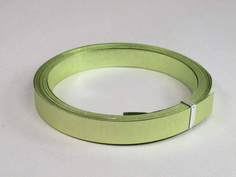 Fil Aluminium décoratif pour bijoux plat 15mm - Anis