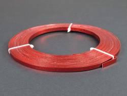 Fil Aluminium décoratif pour bijoux plat 5mm - Rouge