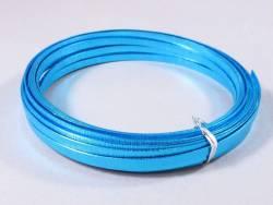 Fil Aluminium décoratif pour bijoux plat 5mm - Turquoise