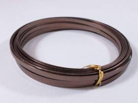 Fil Aluminium décoratif pour bijoux plat 5mm - Chocolat