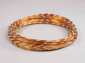 Fil alu diamant pour Création Bijoux 10m - Orange