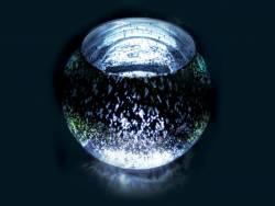 Vase boule métal éclairant