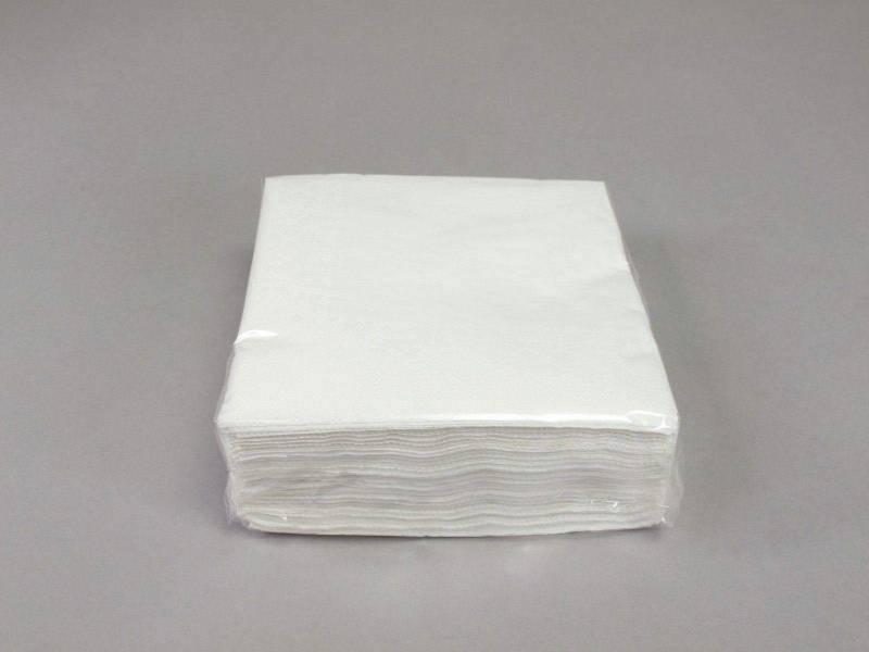 Serviette ouate 25x25cm - Blanc