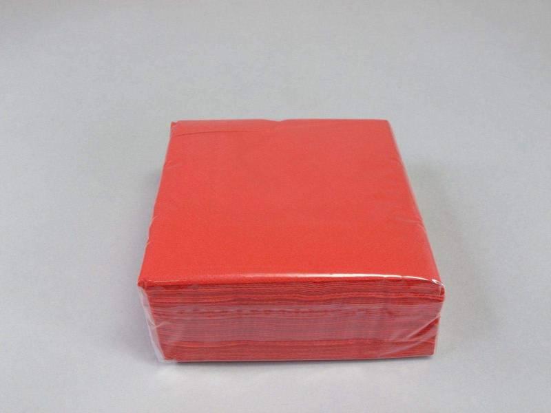 Serviette ouate 25x25cm - Rouge