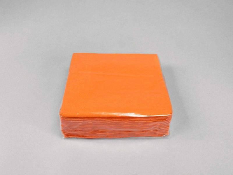 Serviette ouate 25x25cm - Orange