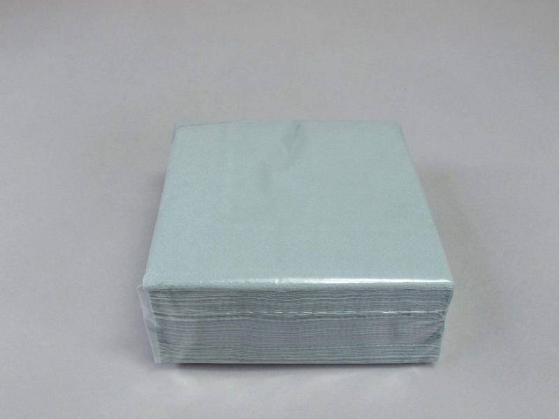 Serviette ouate 25x25cm - Aluminium