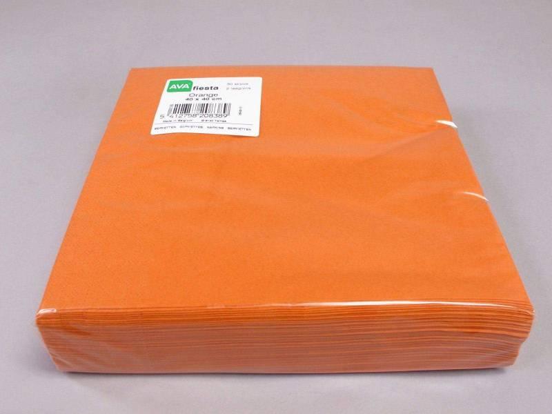 Serviette ouate 40x40cm - Orange