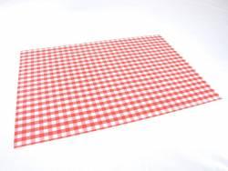 Set de table papier plaza motif Vichy Rouge x100