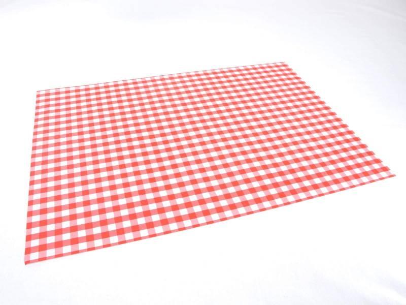 Set De Table Papier Plaza Motif Vichy Rouge X500