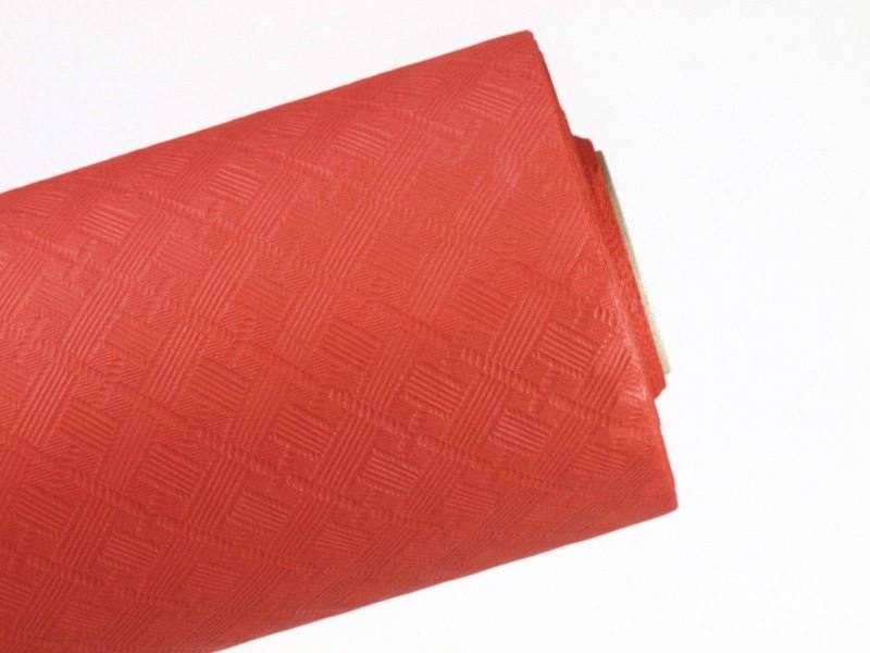 10m Nappe en papier damassé Mundo - Rouge