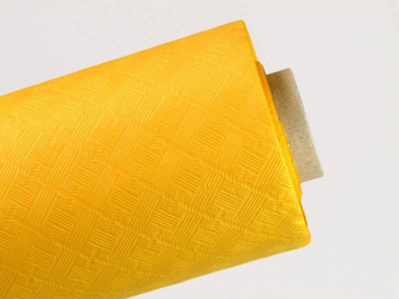 50m Nappe en papier damassé mundo - Jaune Passion