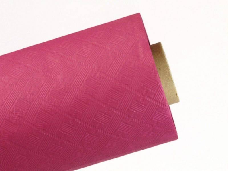 10m Nappe en papier damassé Mundo - Framboise