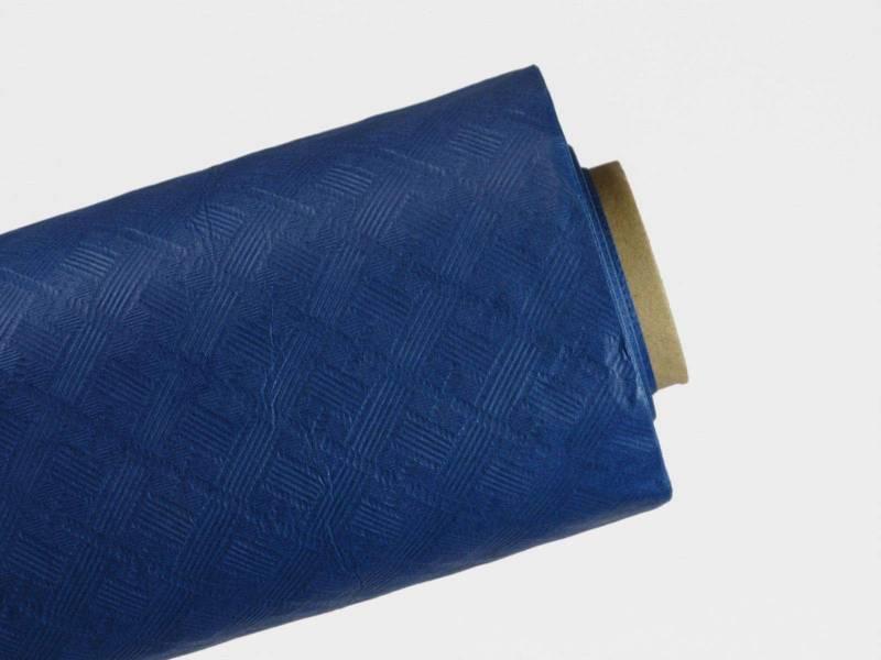 10m Nappe en papier damassé Mundo - Bleu Roi