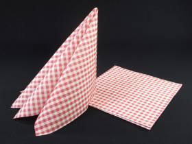 Serviette voie sèche gala - Vichy Rouge x25