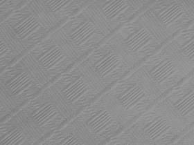 10m Nappe en papier damassé Mundo - Aluminium