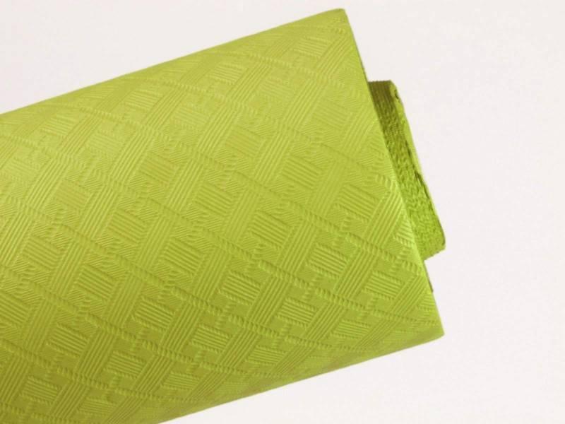 10m Nappe en papier damassé Mundo - Thé Vert