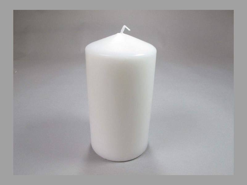 Bougie Cylindre - Blanc 10x6cm
