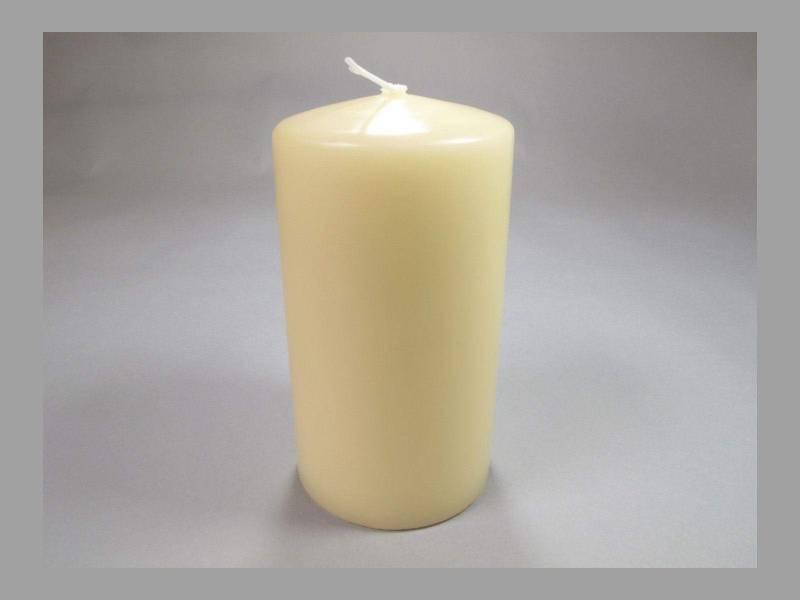 Bougie Cylindre - Crème 10x6cm