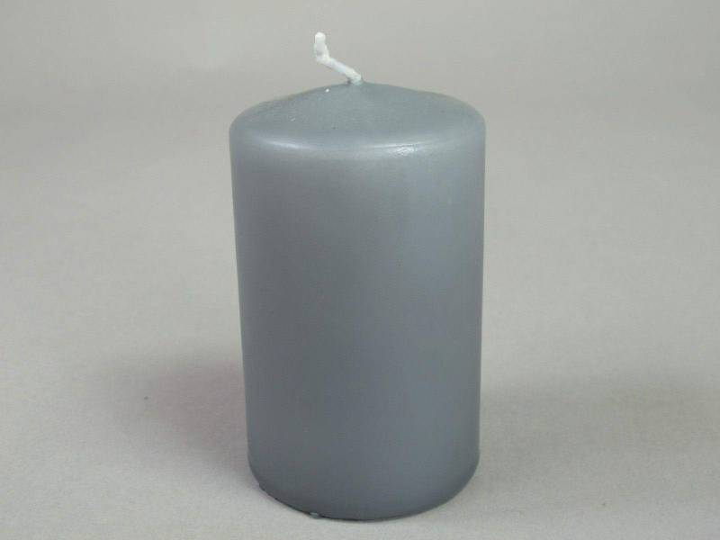 Bougie Cylindre - Gris 10x6cm