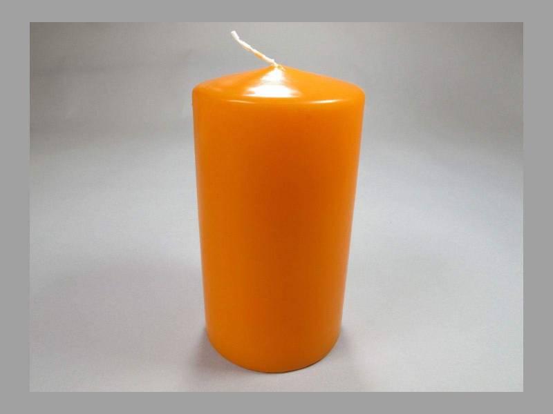 Bougie Cylindre - Mandarine 10x6cm