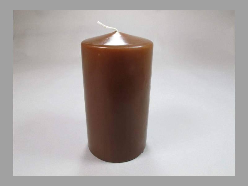 Bougie Cylindre - Chocolat 10x6cm