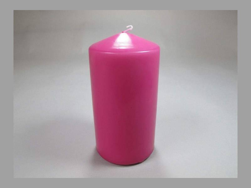 Bougie Cylindre - Fuchsia 10x6cm