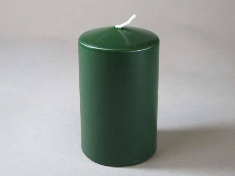 Bougie Cylindre - Vert Sapin 10x6cm