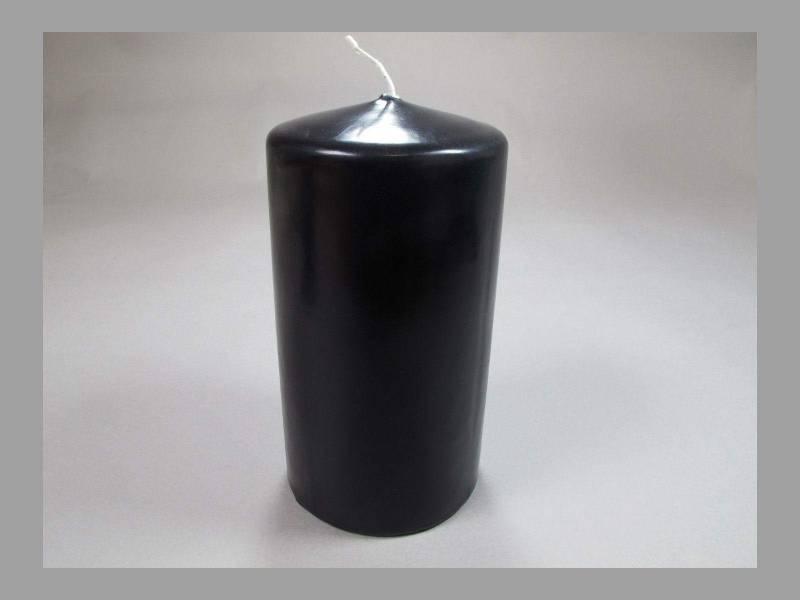 Bougie Cylindre - Noir 10x6cm