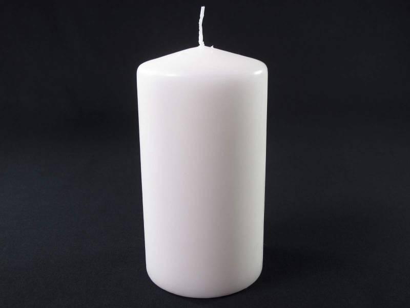 Bougie Cylindre - Blanc Cassé 15x8cm