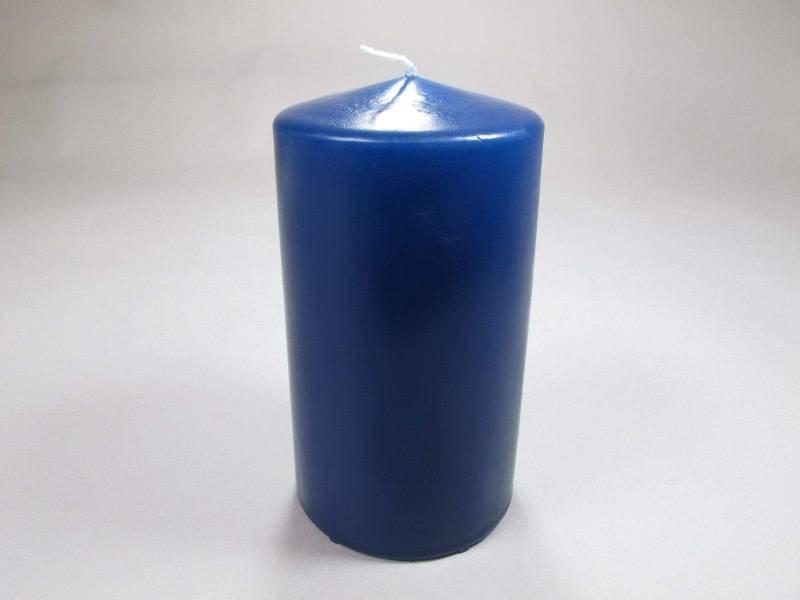 Bougie Cylindre - Bleu Marine 15x8cm