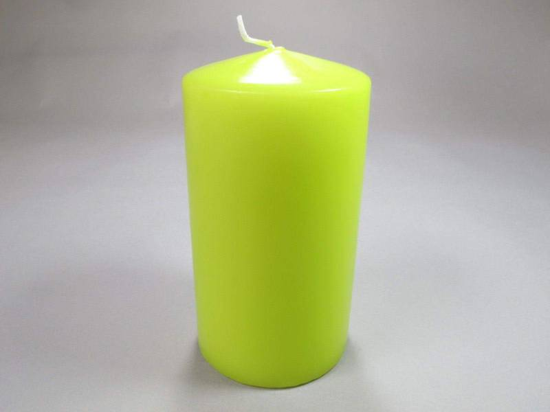 Bougie Cylindre - Lime 15x8cm
