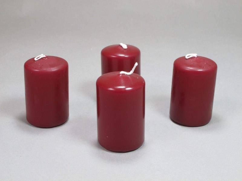 Bougie Cylindre - Bordeaux 6x4cm