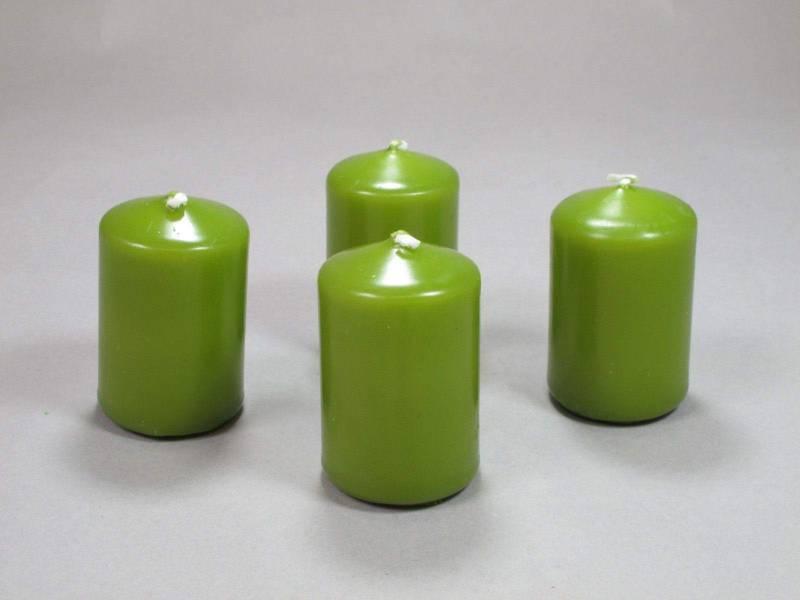 Bougie Cylindre - Vert Mousse 6x4cm