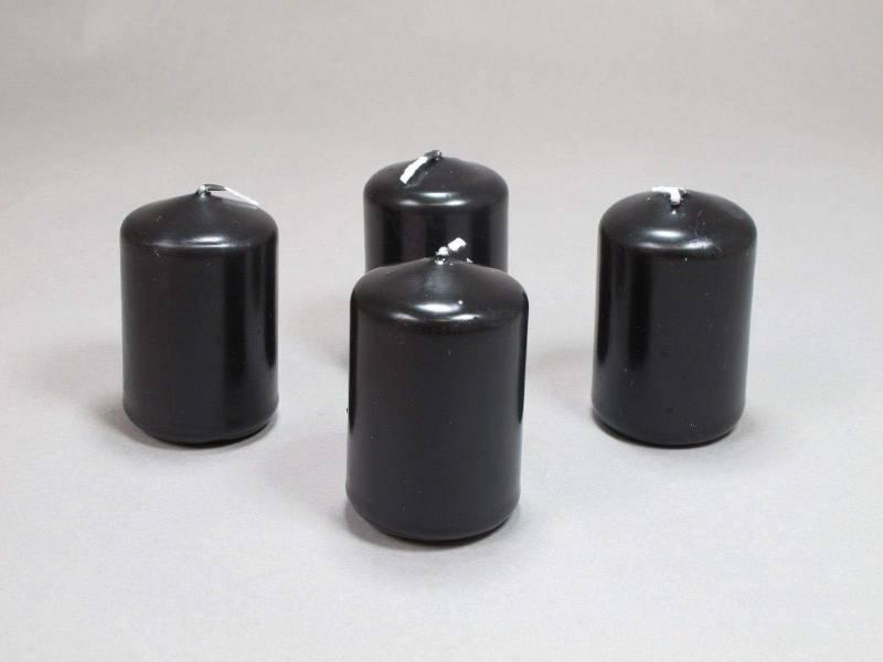 Bougie Cylindre - Noir 6x4cm