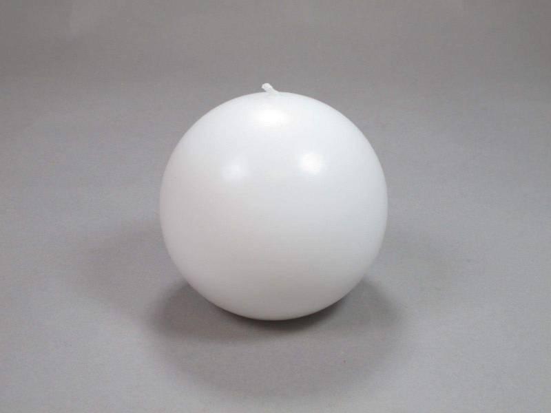Bougie Boule - Blanc Ø8cm