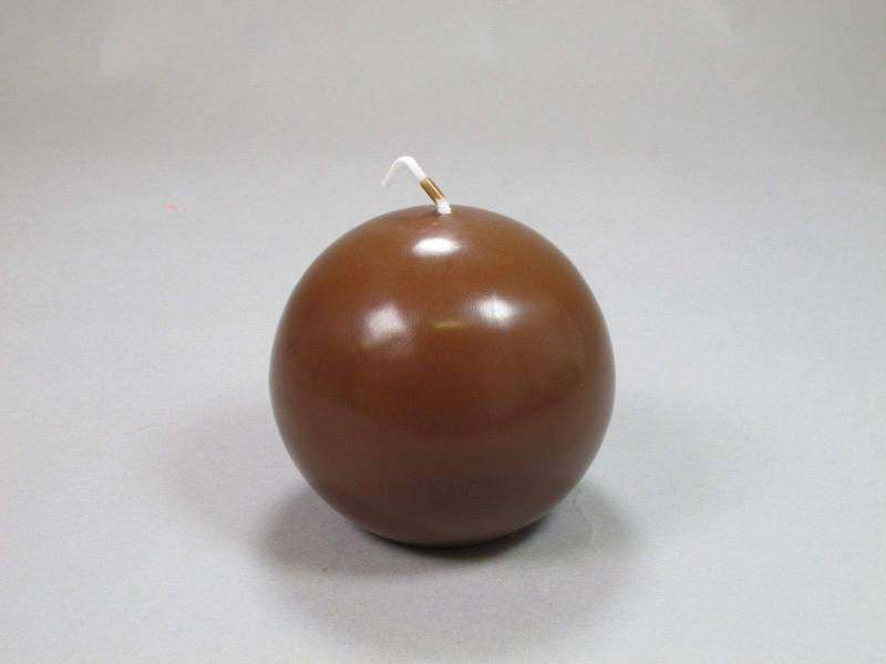 Bougie Boule - Chocolat Ø8cm