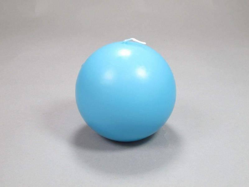 Bougie Boule - Turquoise Ø8cm