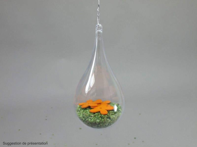Goutte d'eau en plastique 140mm - Transparent