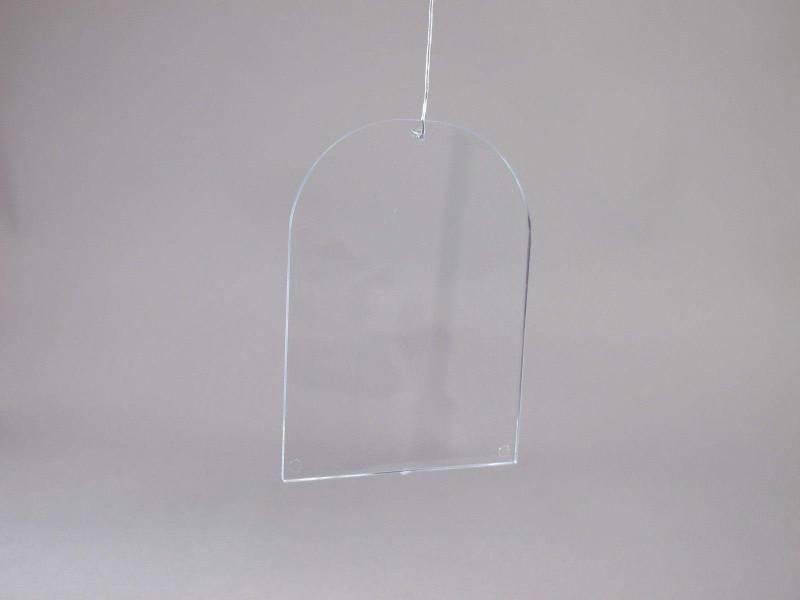 Plaque fenêtre en plastique - Transparent