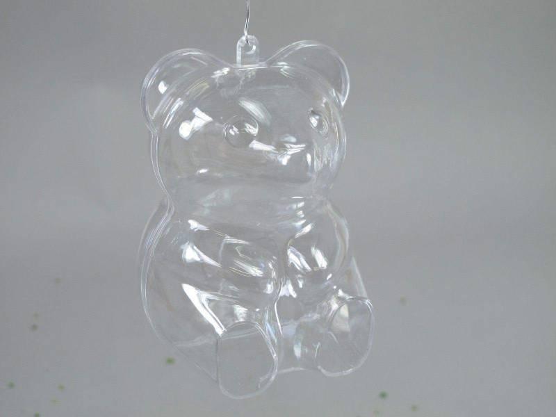 Ourson en plastique - Transparent